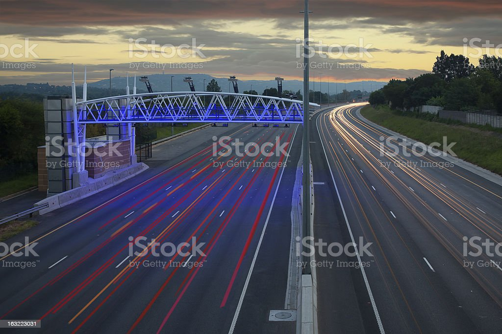 highway toll stock photo