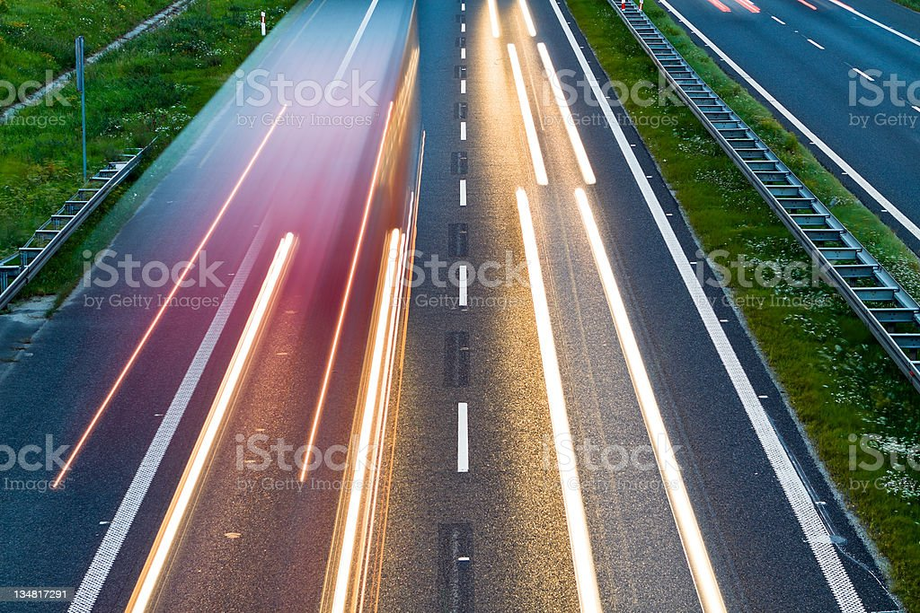 Highway traffic and cars on road royalty-free stock photo