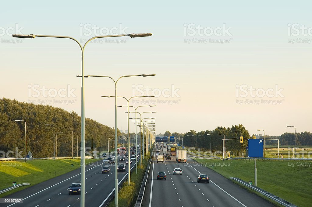 highway traffic II royalty-free stock photo