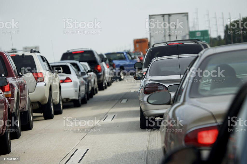 highway traffic jam royalty-free stock photo