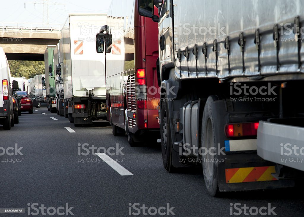 Highway Traffic Jam stock photo