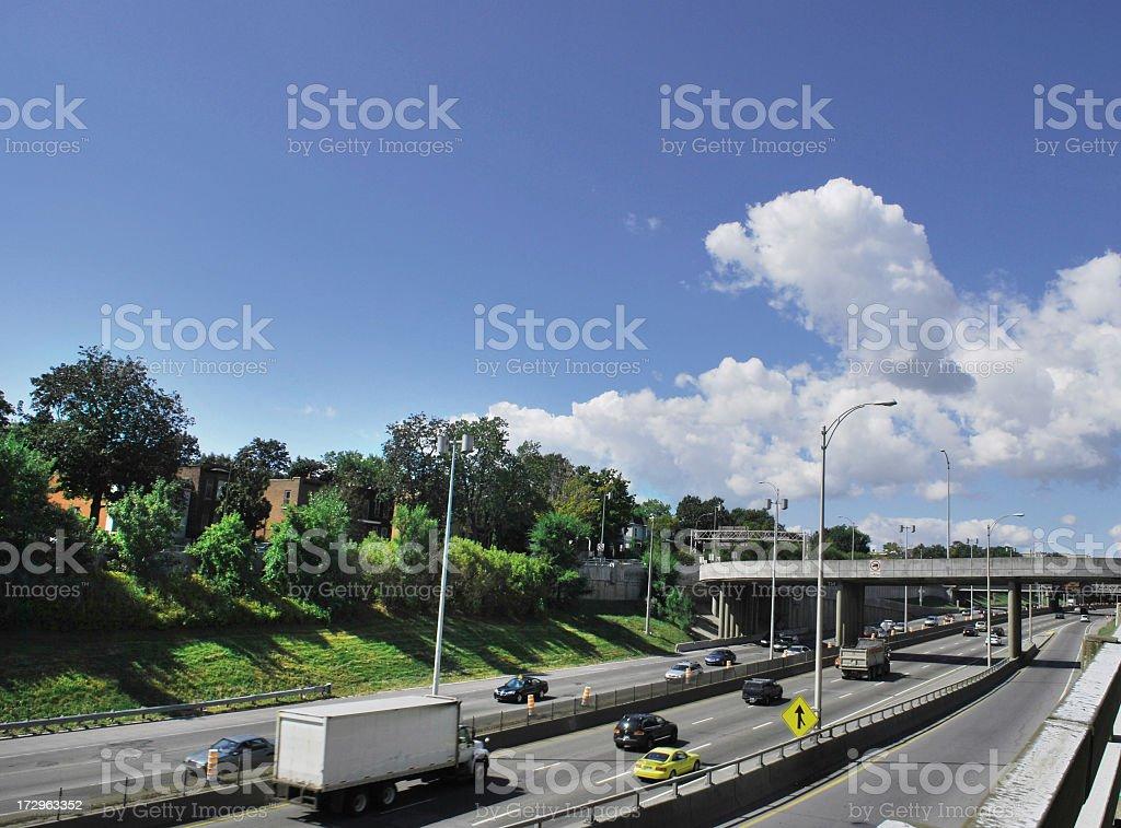Highway traffic royalty-free stock photo