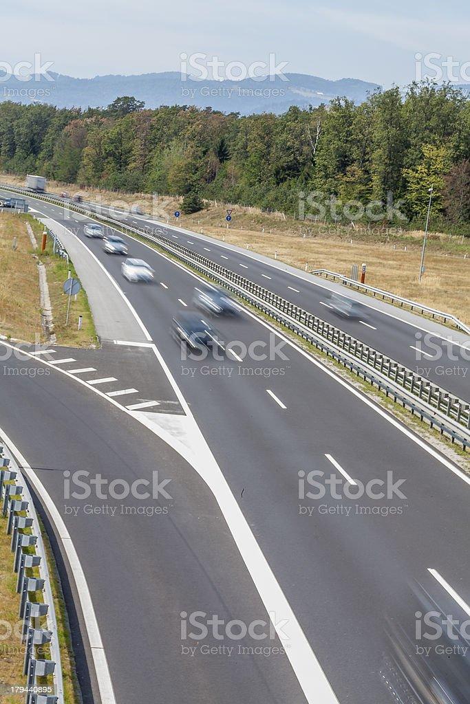 Highway Traffic V royalty-free stock photo