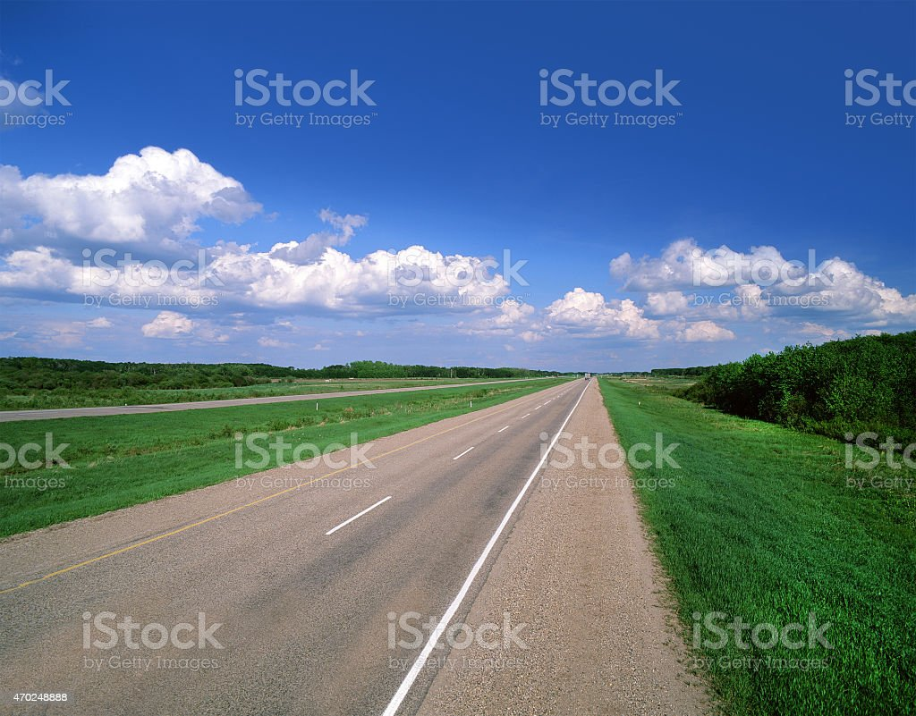 Highway,  Trans-Canada Highway stock photo