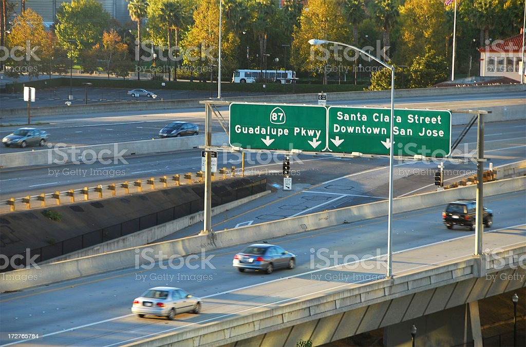 Highway Transportation in San Jose, CA royalty-free stock photo