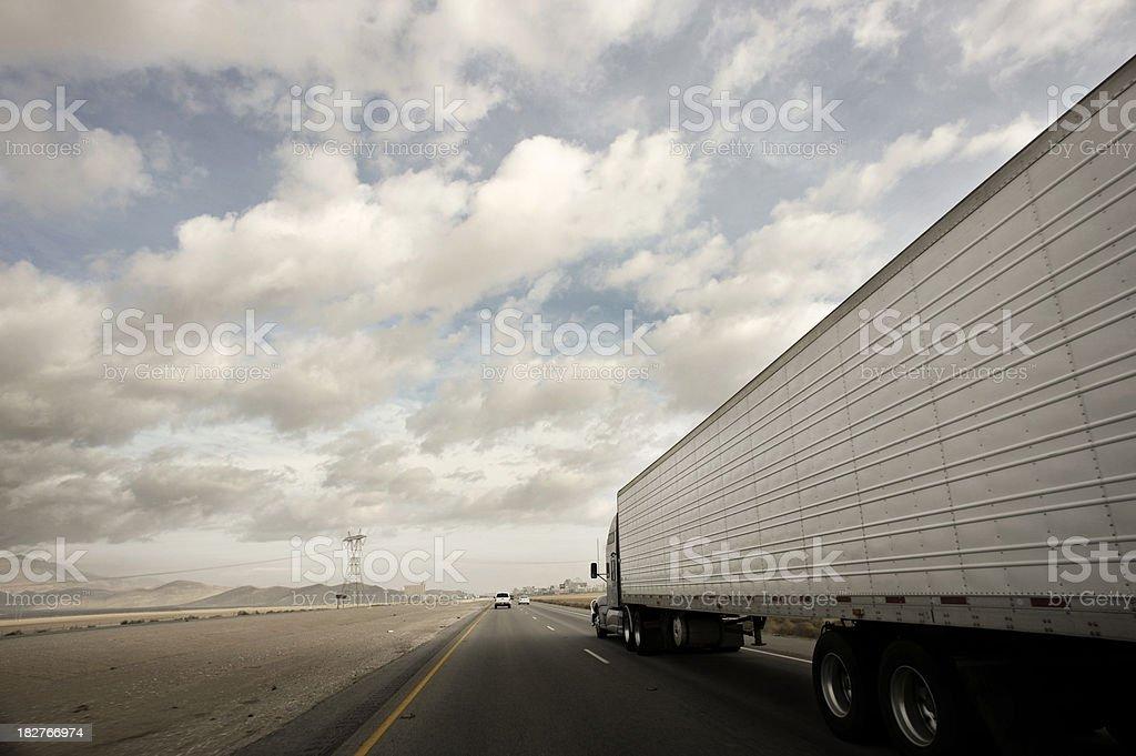Highway trucking royalty-free stock photo