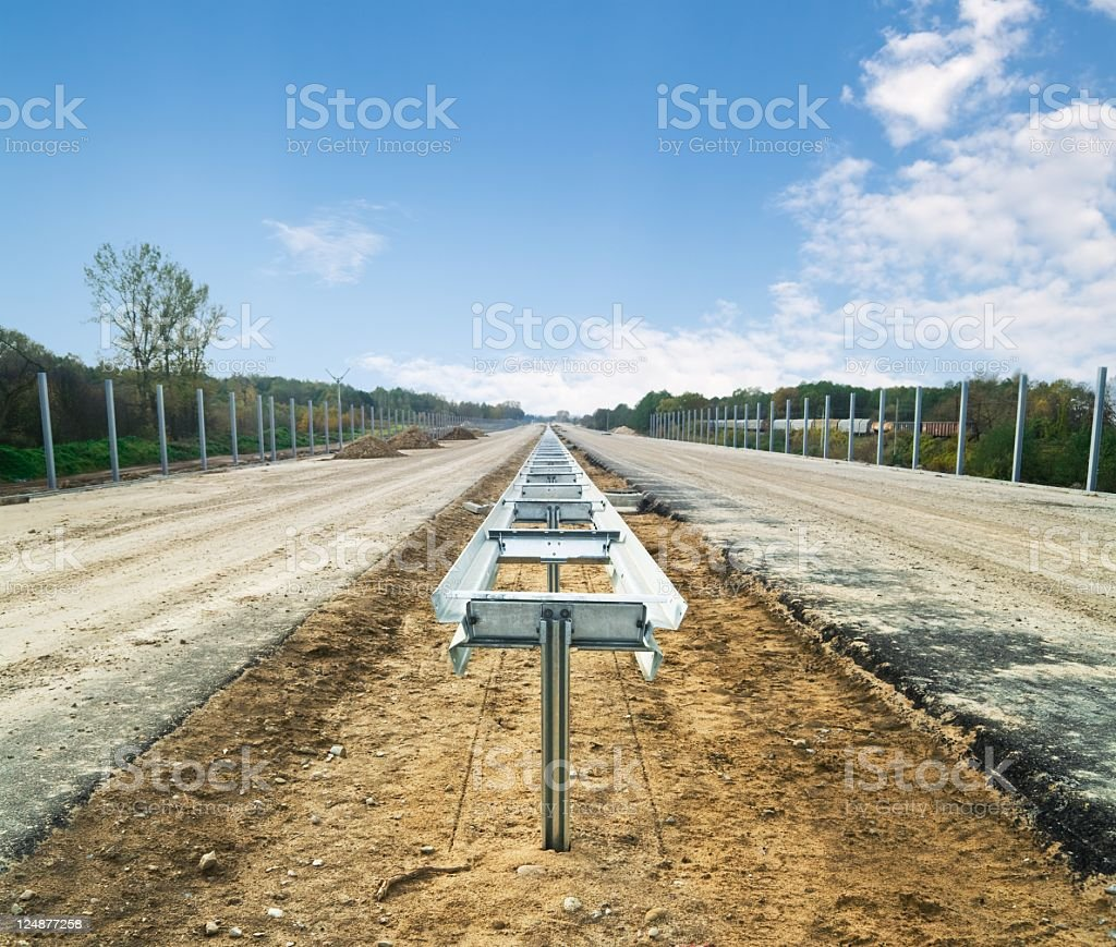 Highway under construction stock photo