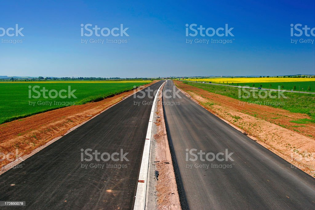 Highway Under Construction royalty-free stock photo
