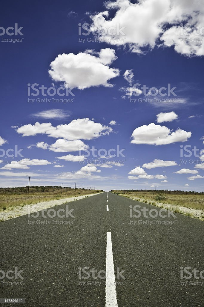 Highway under Summer Cloudscape royalty-free stock photo