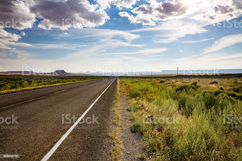 Highway U.S. Route 162 in summer 2015 stock photo