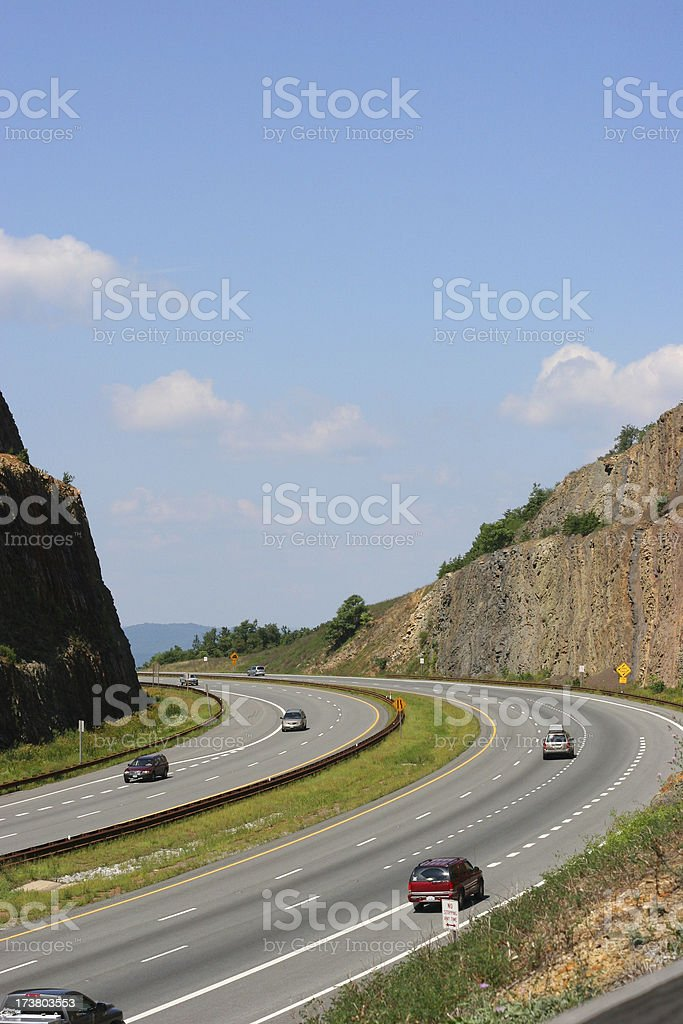 Highway Vertical stock photo