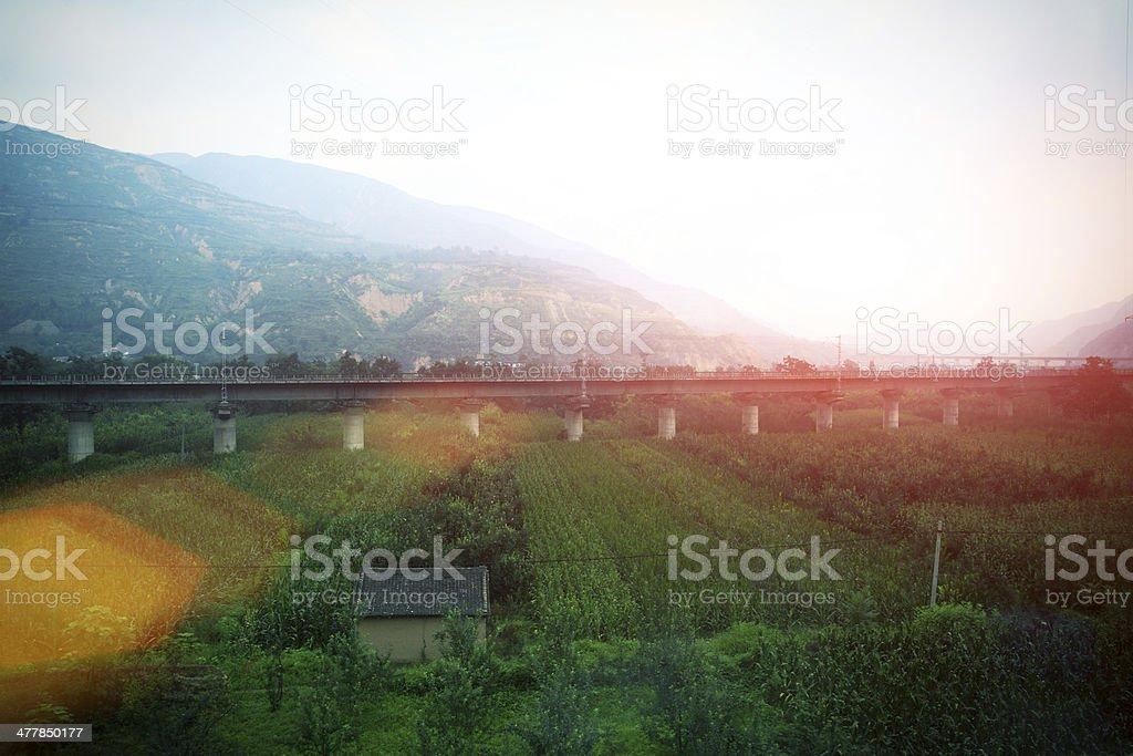 highway viaduct bridge royalty-free stock photo