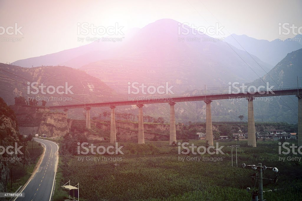 highway viaduct bridge royalty-free stock photo