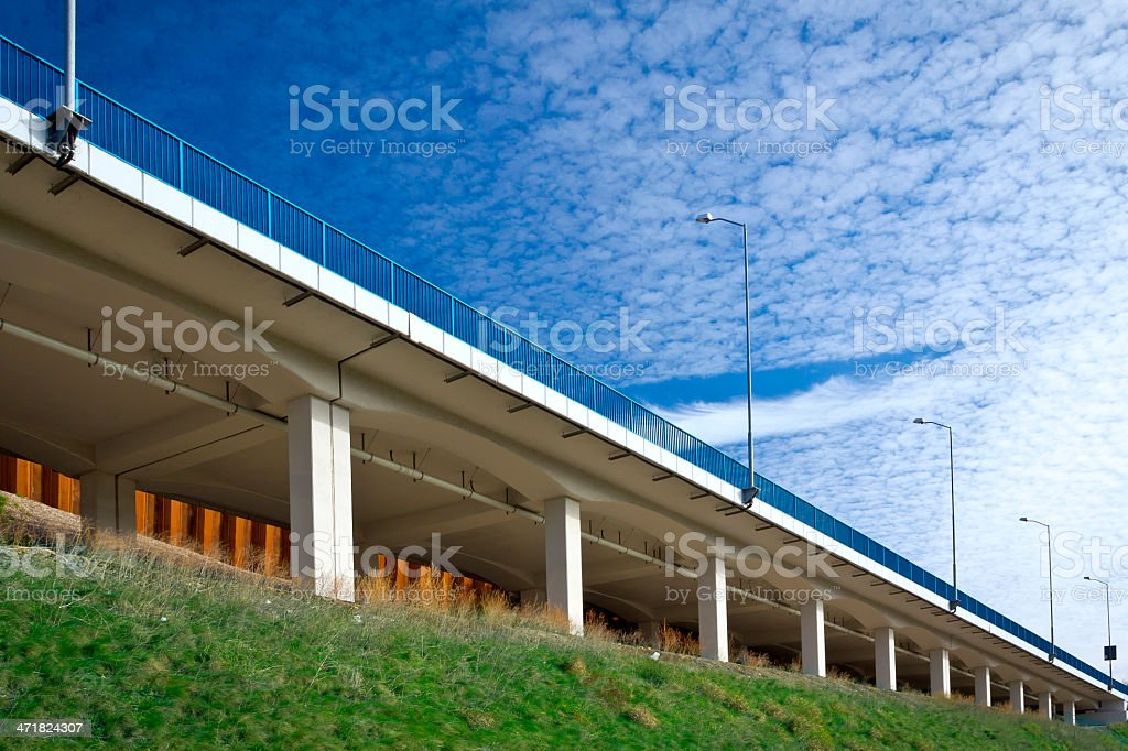 Highway viaduct royalty-free stock photo