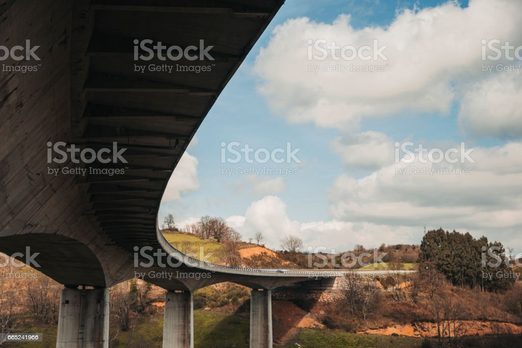Highway viaduct stock photo