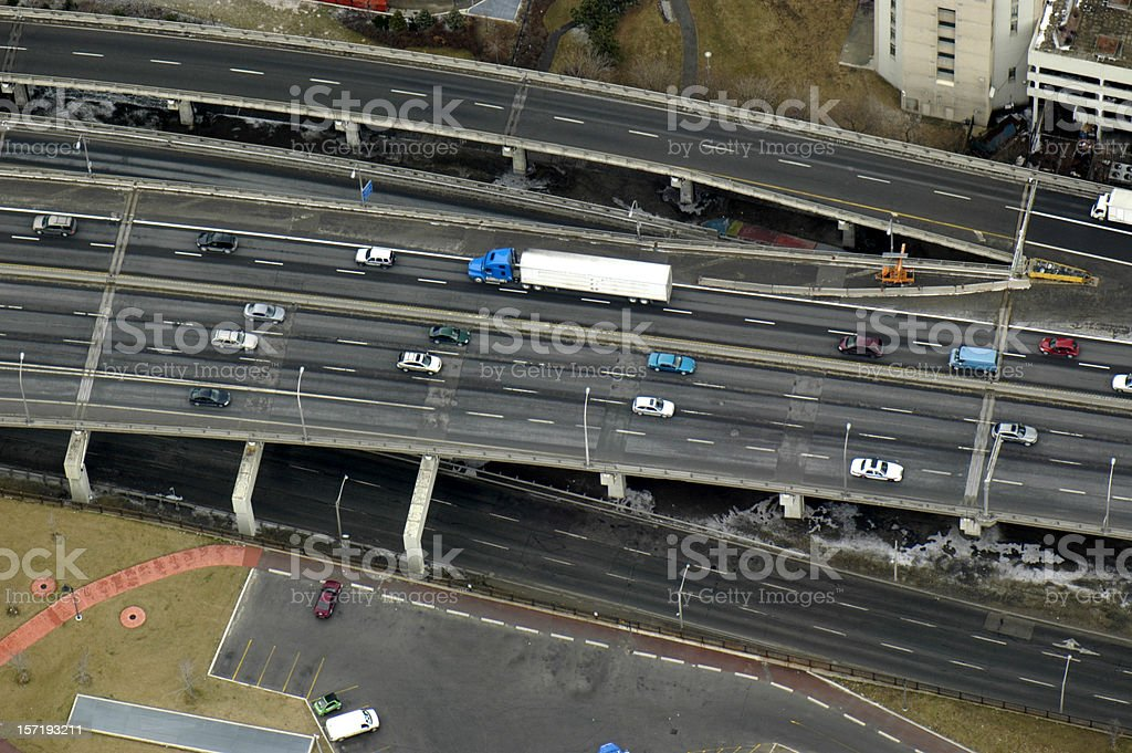 Highway with truck royalty-free stock photo