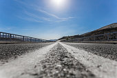 Highway with vanishing point