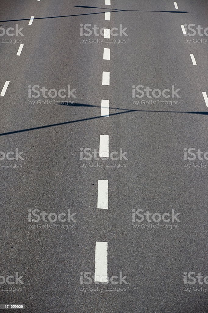 Highway without cars royalty-free stock photo