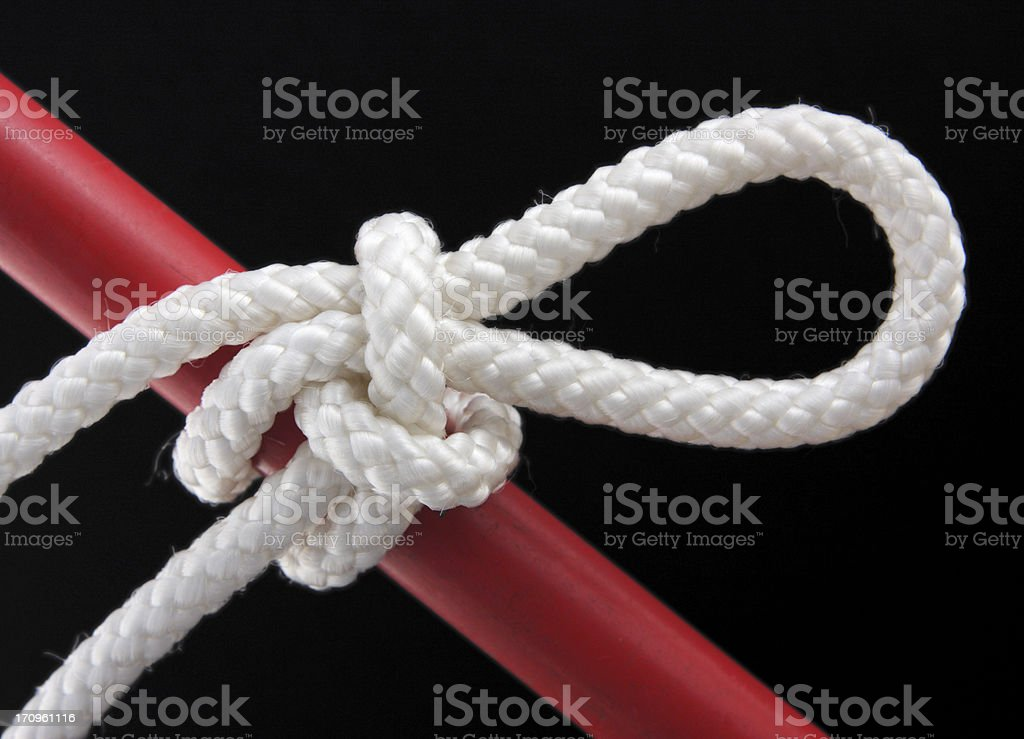 Highwayman Hitch Rope Knot royalty-free stock photo
