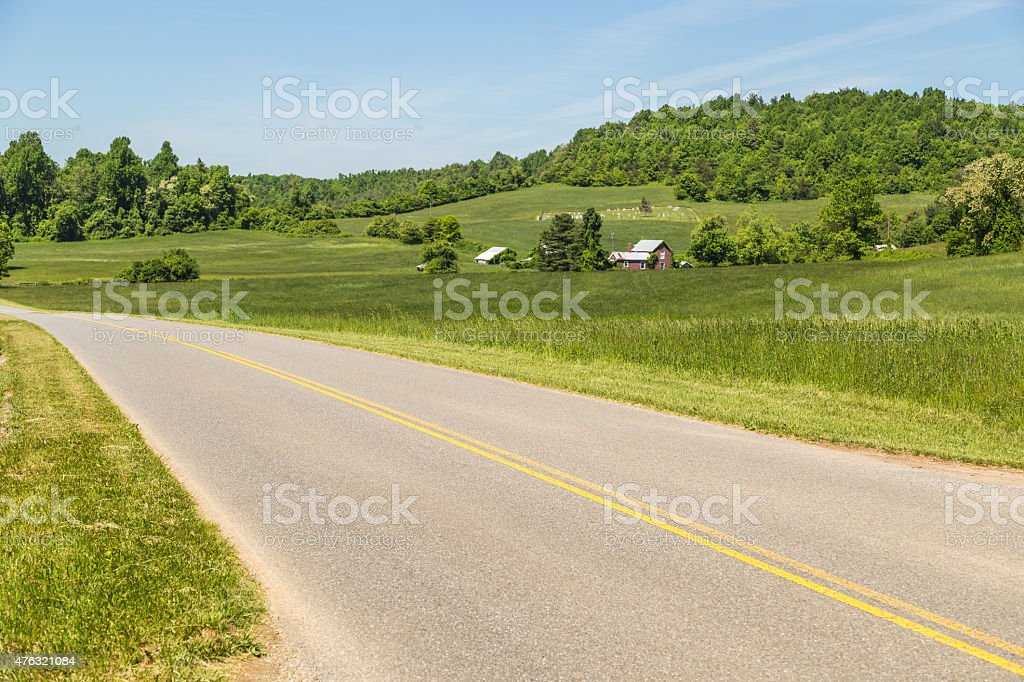 Highways and Byways of Appalachian Mountains stock photo