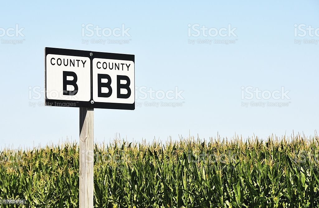 Highways B and BB royalty-free stock photo