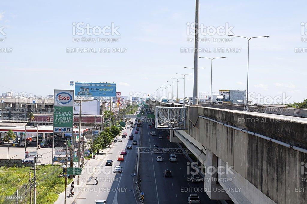 Highways on levels stock photo
