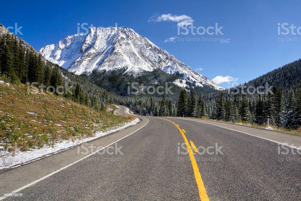 Highwood Pass, kananaskis country stock photo