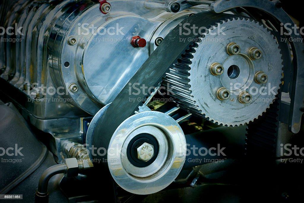 Hih performance car engine stock photo
