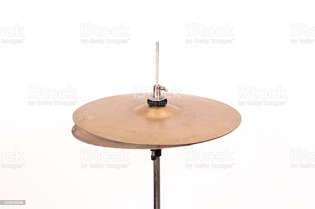 hi-hat cymbal stock photo