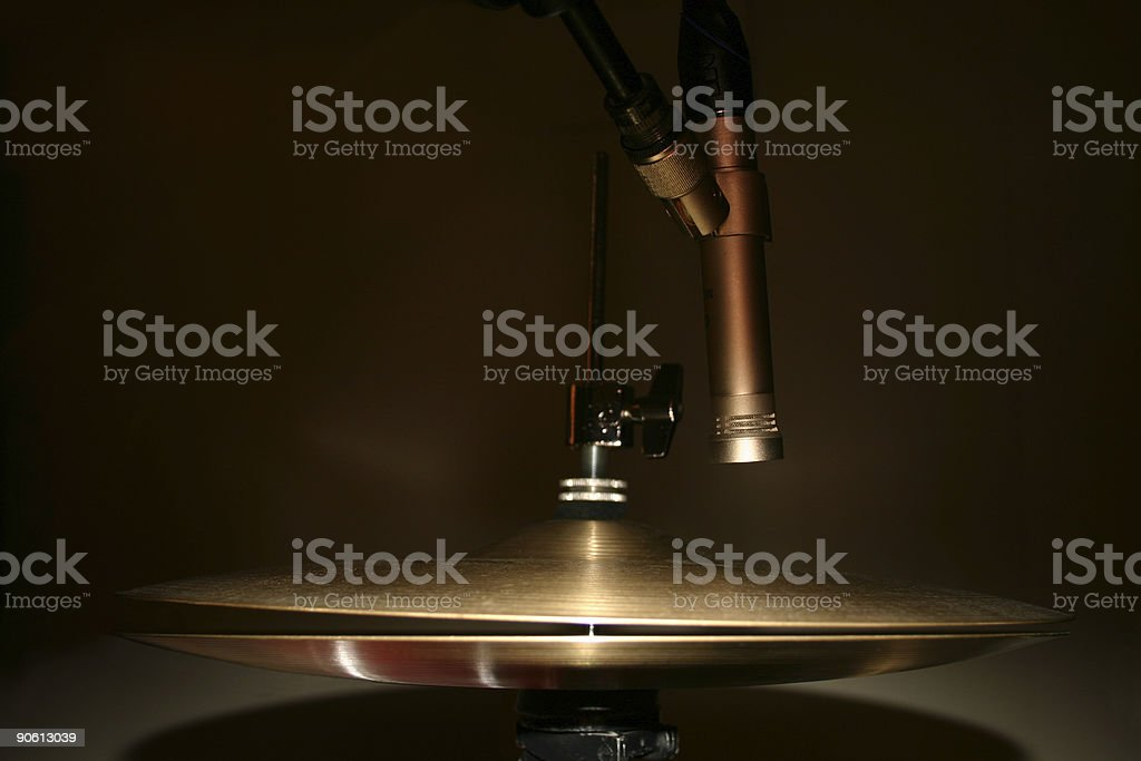 hi-hat miked royalty-free stock photo