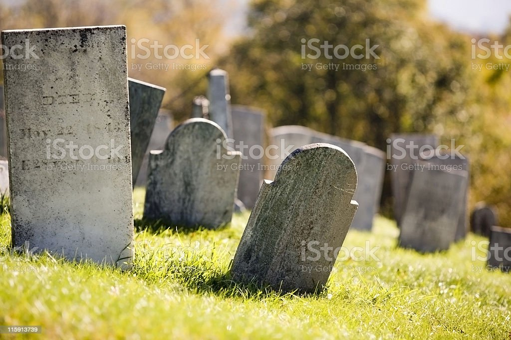 HiIlside Cemetary royalty-free stock photo