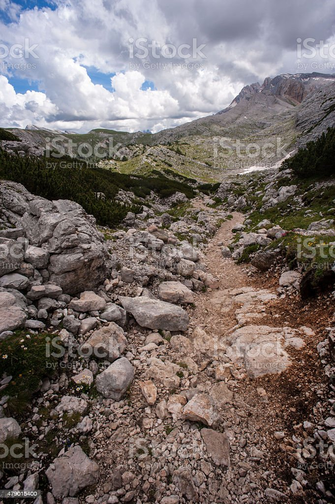 Wanderung Seekofel Umrundung Dolomiten stock photo