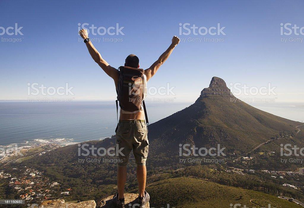 Hiker At The Summit royalty-free stock photo