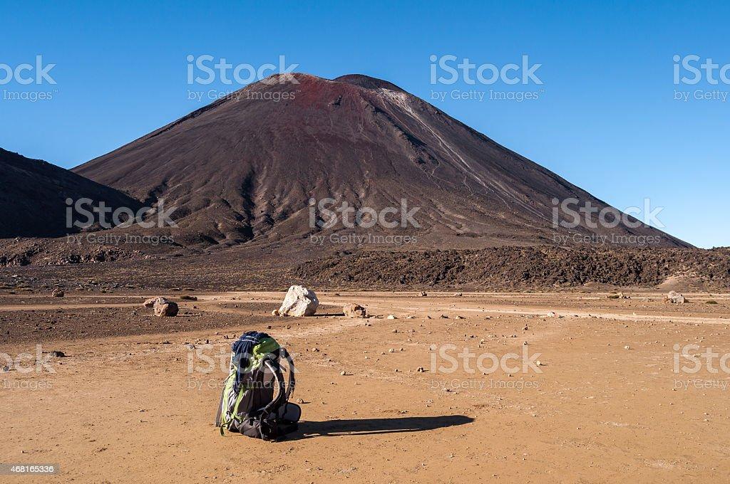 Hiker Backpack stock photo