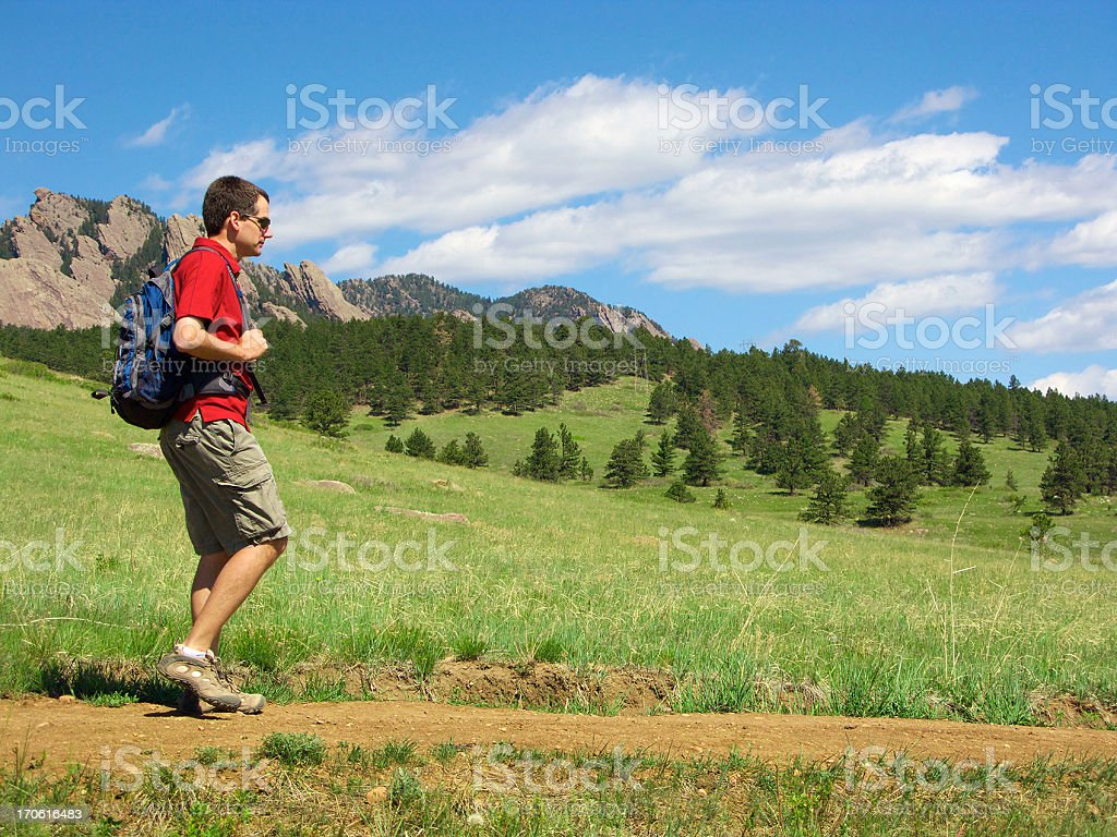 Hiker in Colorado stock photo