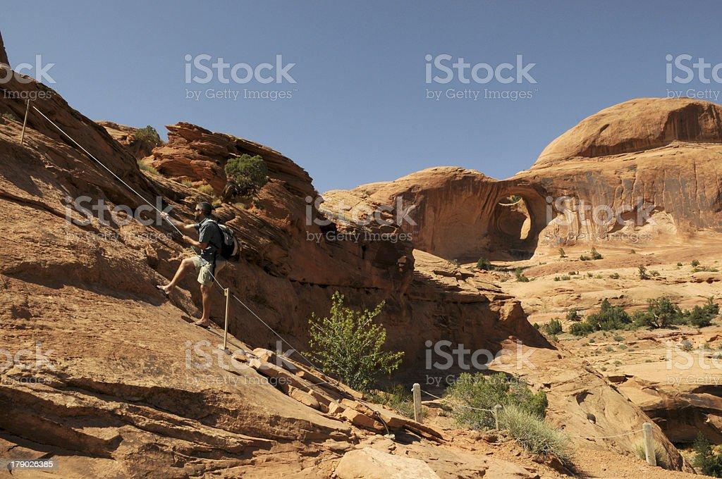 Hiker in Utah royalty-free stock photo