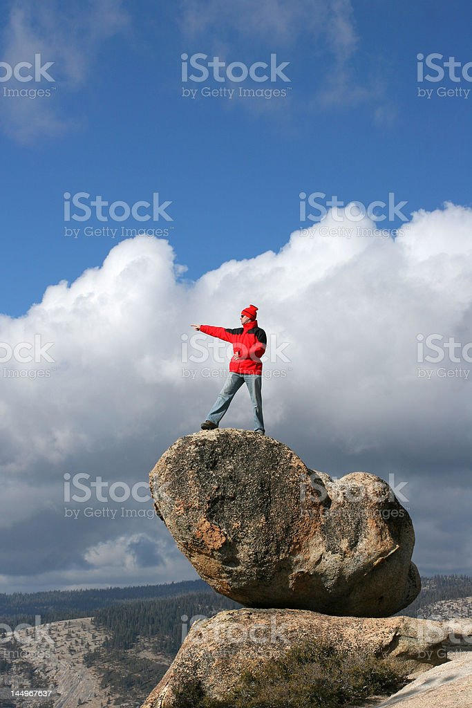 Hiker in Yosemite royalty-free stock photo