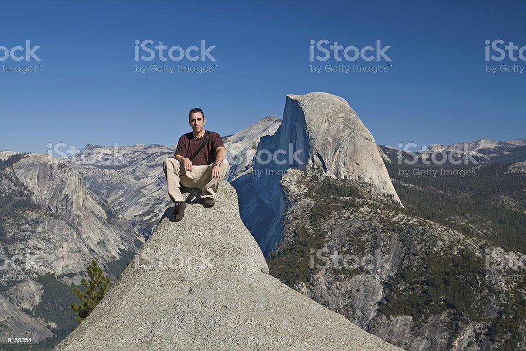 Hiker in Yosemite royalty-free stock photo
