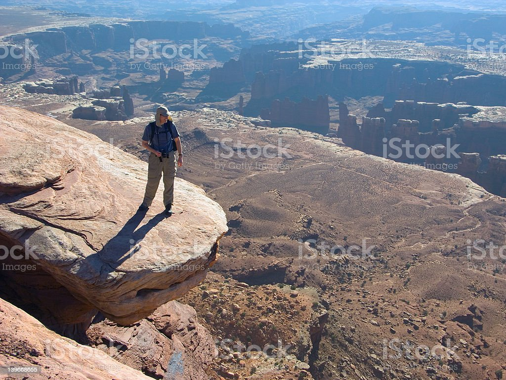 Hiker on the edge royalty-free stock photo