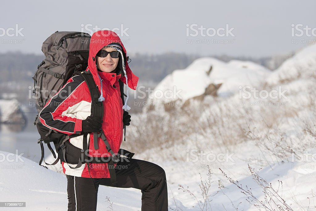 Hiker stock photo