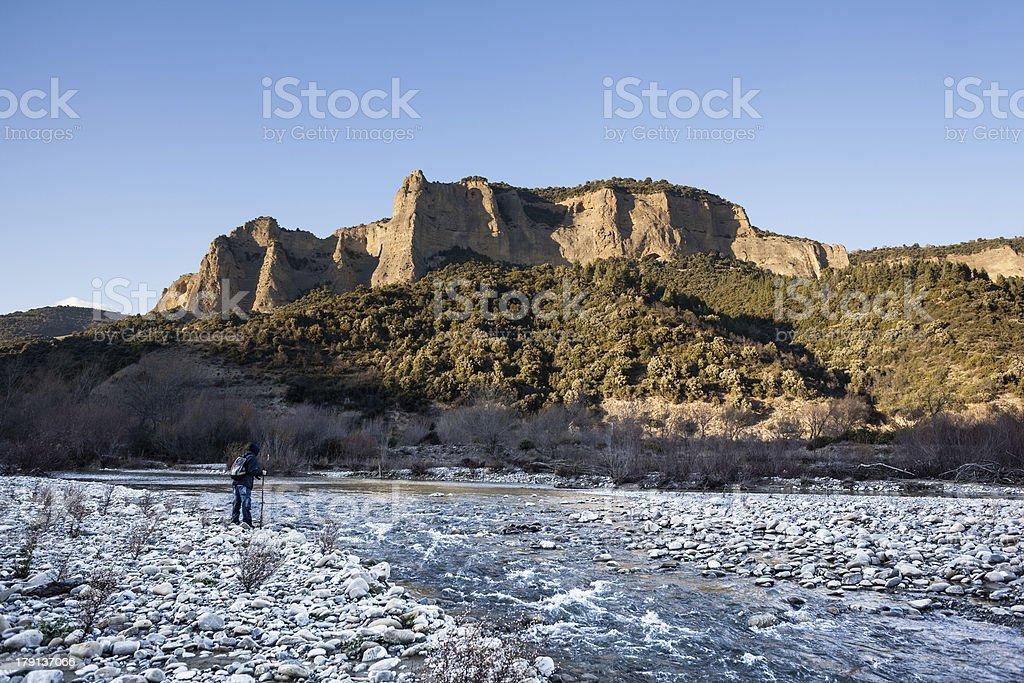 Hiker royalty-free stock photo