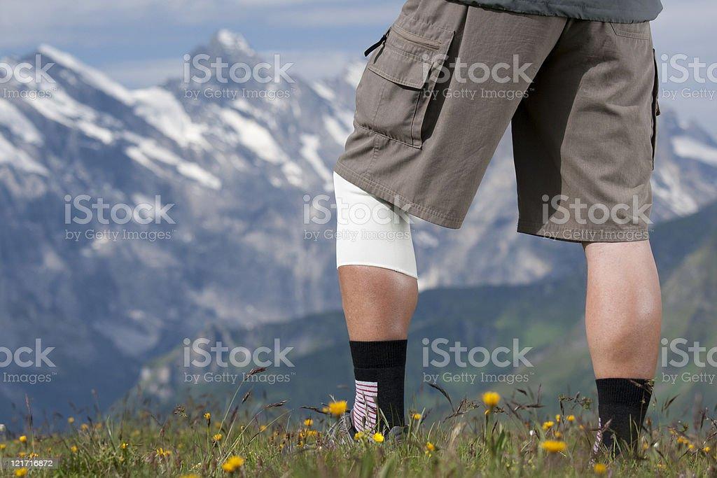Hiker with bandage royalty-free stock photo