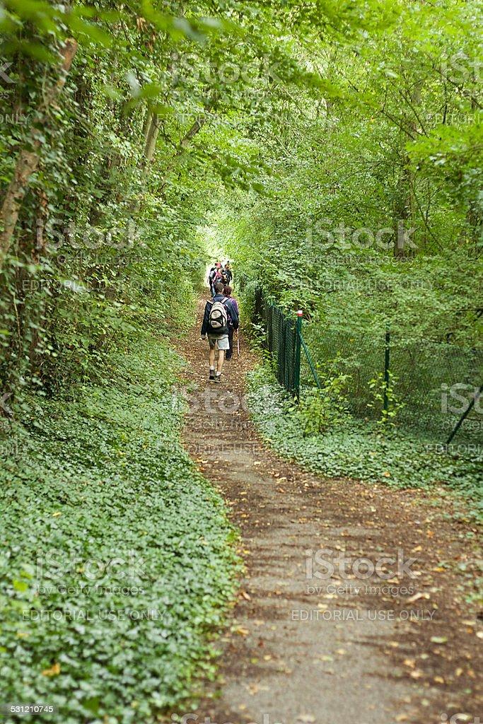 Escursionisti in Belgio foto stock royalty-free