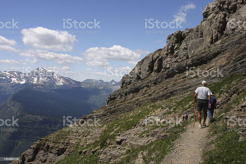 Hikers on the Garden Wall royalty-free stock photo