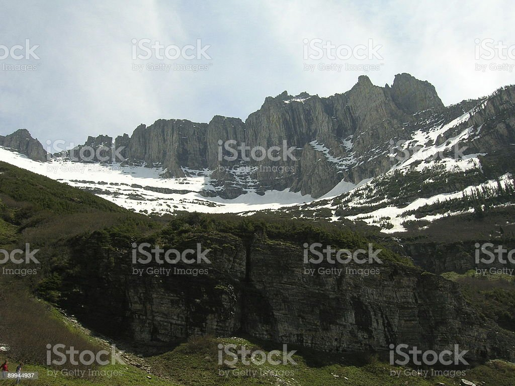 Hikers on the hiking trail royalty-free stock photo