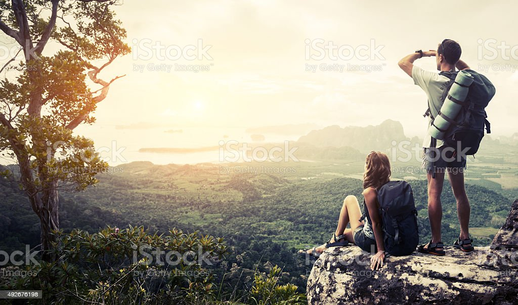 Hikers stock photo