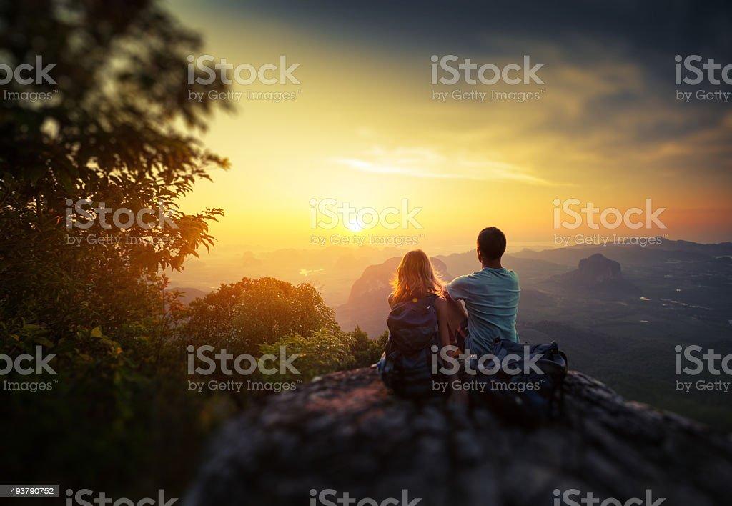 Hikers stock photo