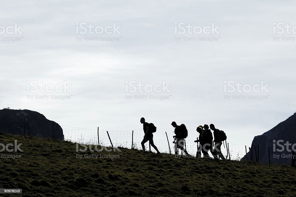 Hikers royalty-free stock photo