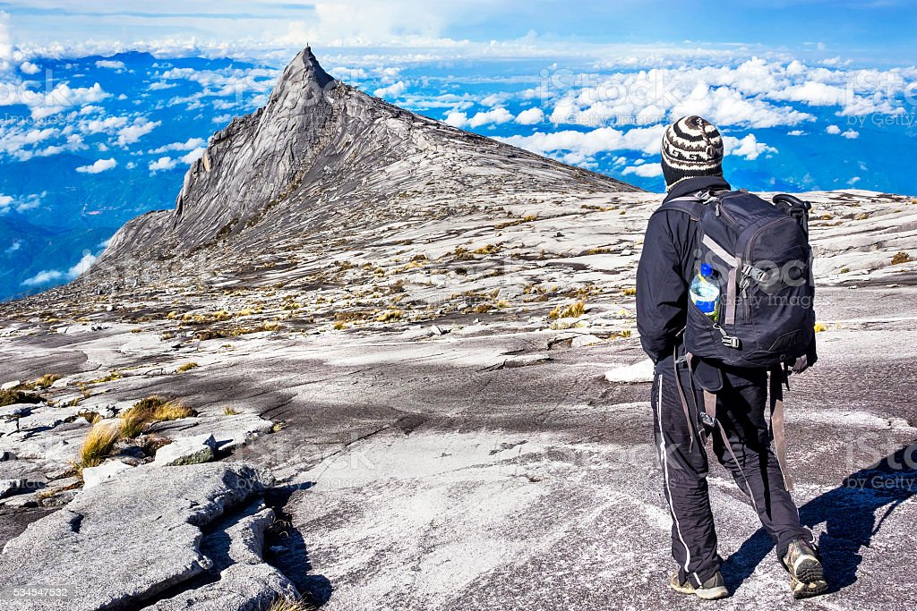 Hiket at Mount Kinabalu in Sabah, Borneo, Malaysia stock photo