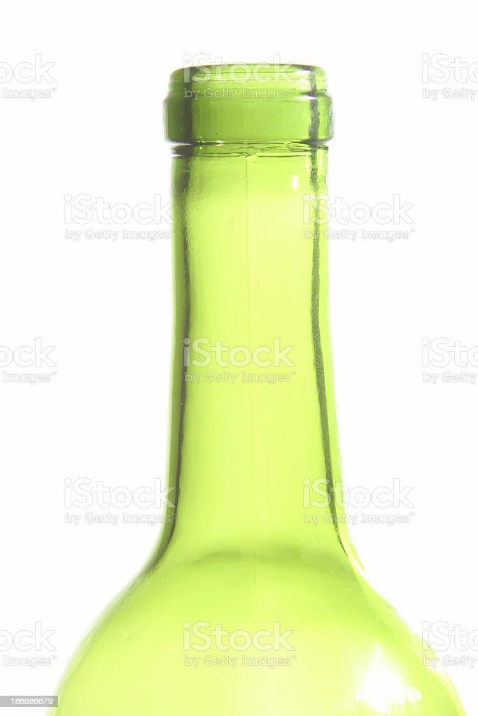 Hi-Key Wine Bottle #1 royalty-free stock photo